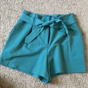 ASOS high waist green shorts